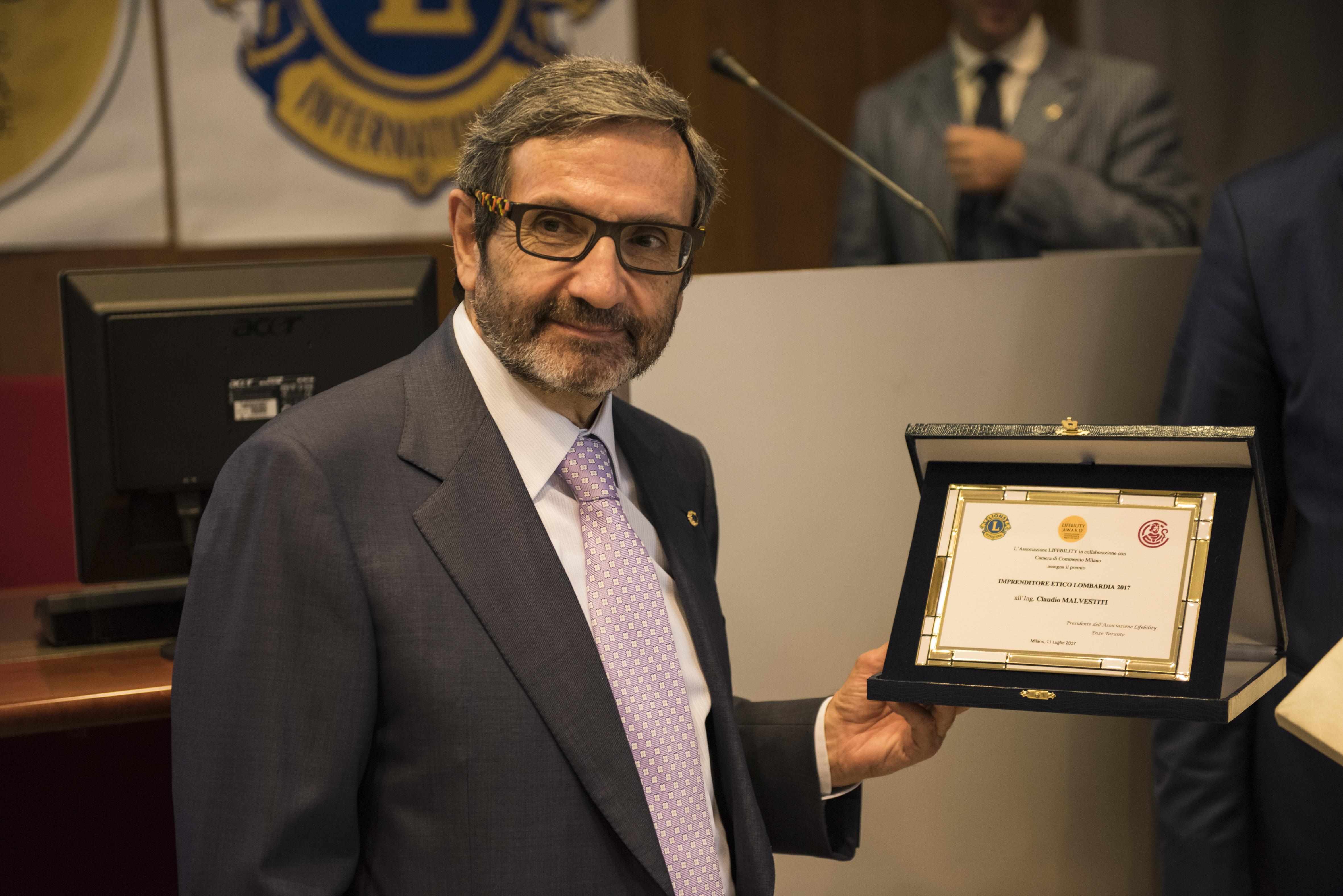 Claudio Malvestiti – Vincitore Premio Imprenditore Etico Lombardia 2017