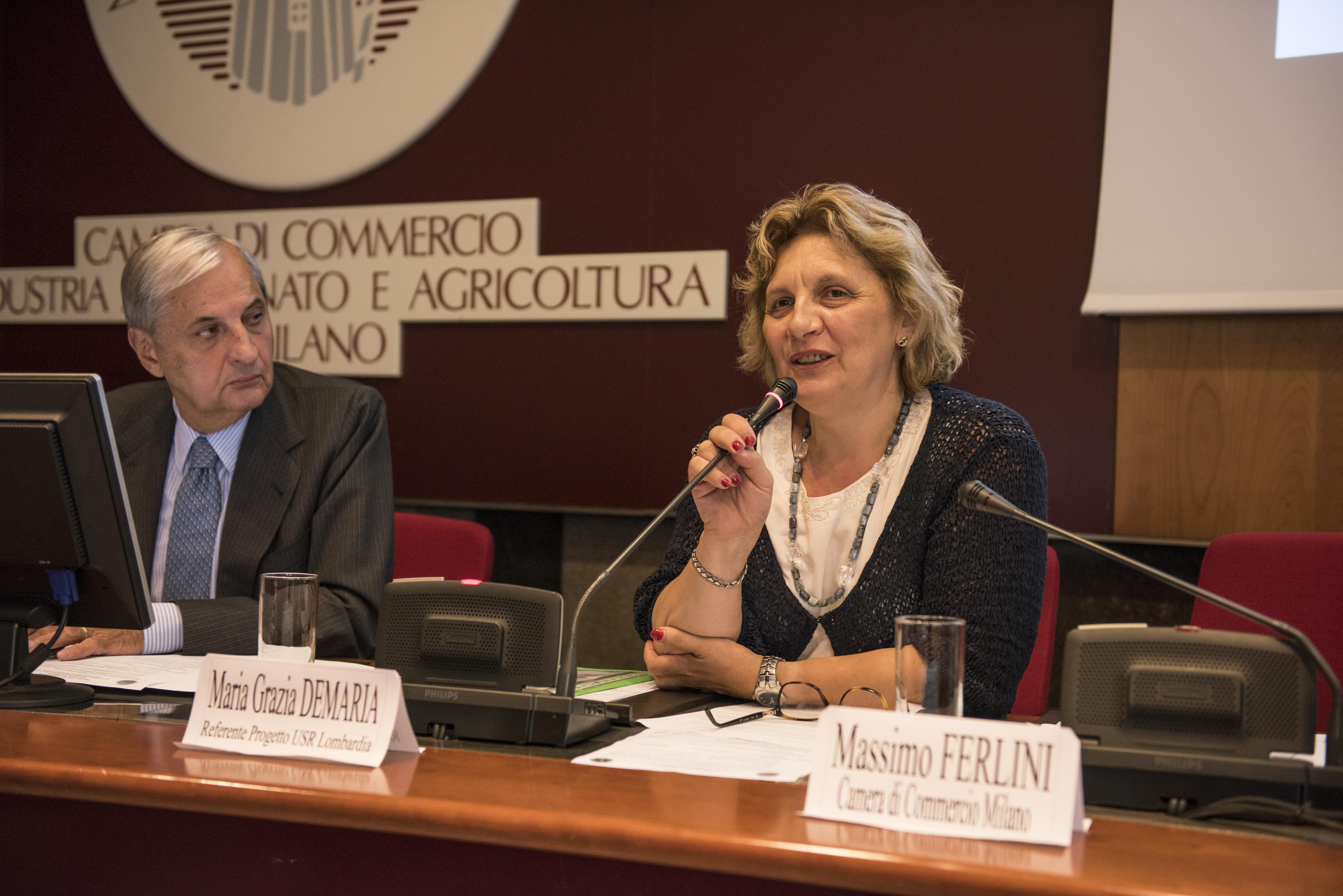 Giampio Bracchi (Presidente di Prospera) e Maria Grazia Demaria (Referente Progetto USR Lombardia).