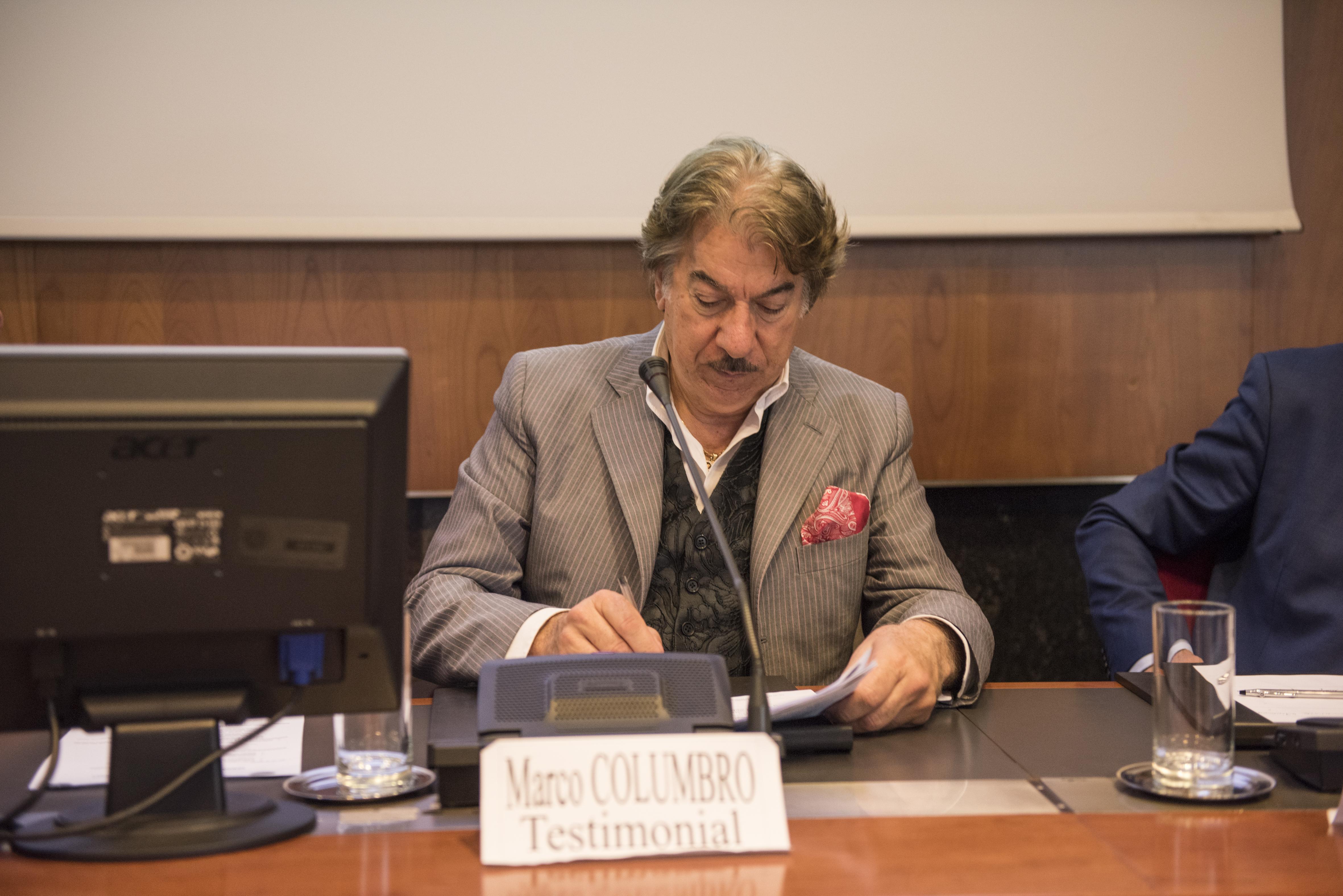 Il Testimonial Marco Columbro.